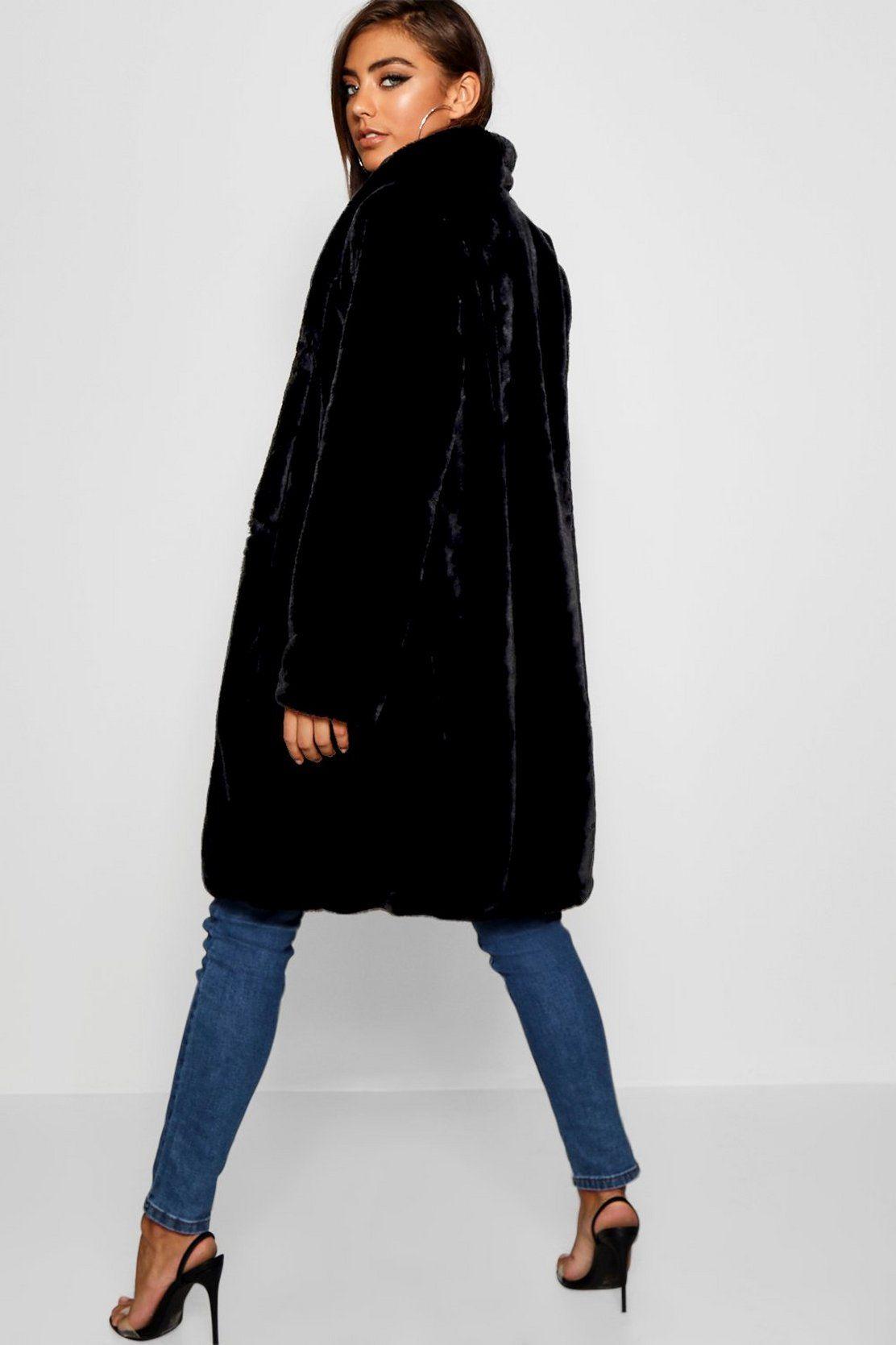 Faux Fur Coat Boohoo Womens Faux Fur Coat Black Faux Fur Coat Faux Fur Coat