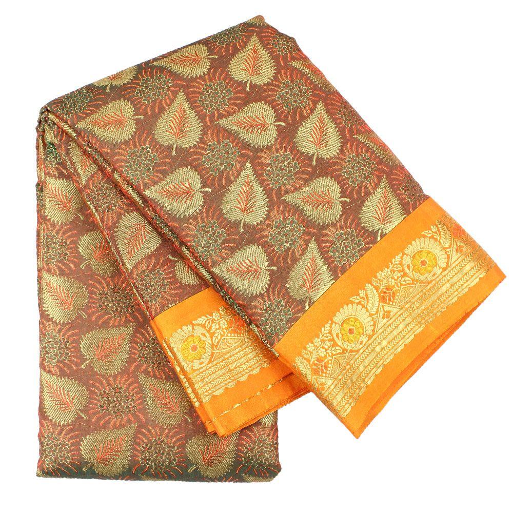 Latest Kanchipuram AU0213 Orange Colour Silk Saree At affordable price only at http://www.discountsvu.com/buy/kanchipuram-au0213-orange-colour-silk-saree/?fbpost