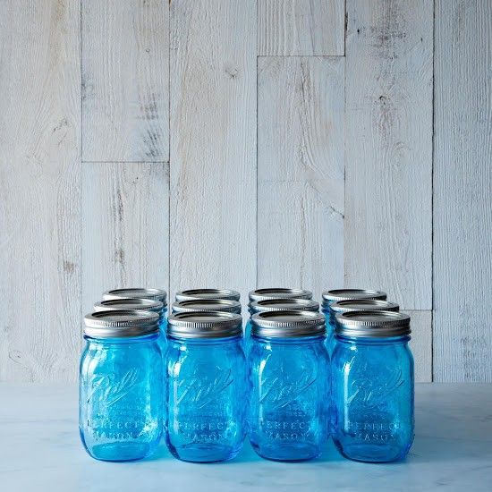 Above The Name Mason Became Synonymous With Canning Jars In America Recently Ball Reintroduced Its Original Blue To Celebrate Cen