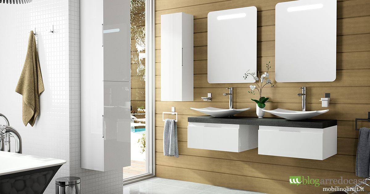 Mobili bagno con doppio lavabo pro e contro doppio lavabo