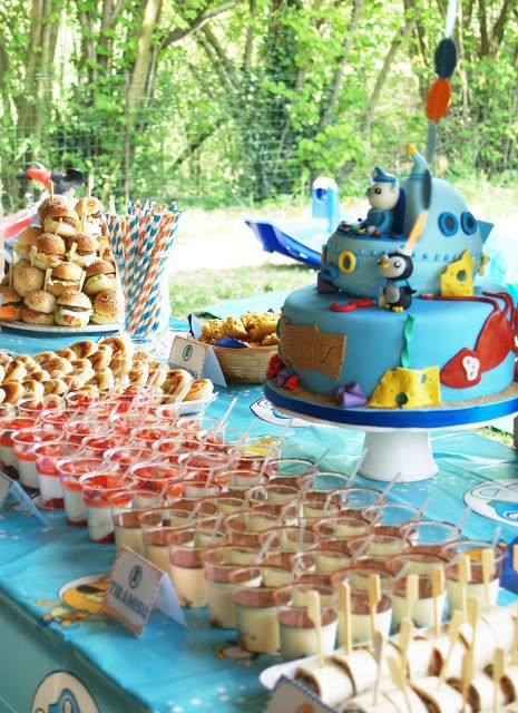 Octonauts cake probably out of my league but a great idea