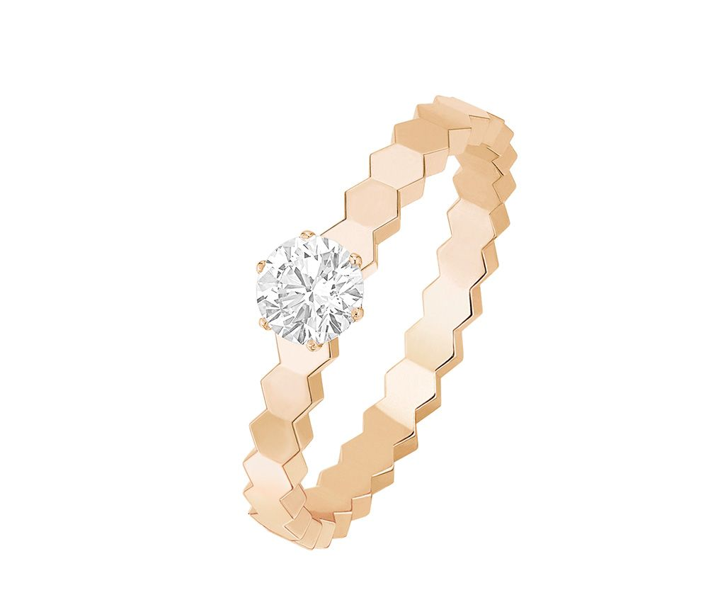 Chaumet Bee My Love Engagement Ring In Pink Gold Diamond