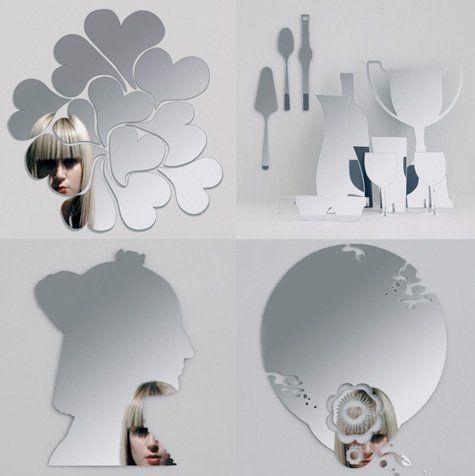 Specchio a cuore specchi con forme particolari cuore smile forme geometriche personaggi cartoni - Specchio a cuore ...