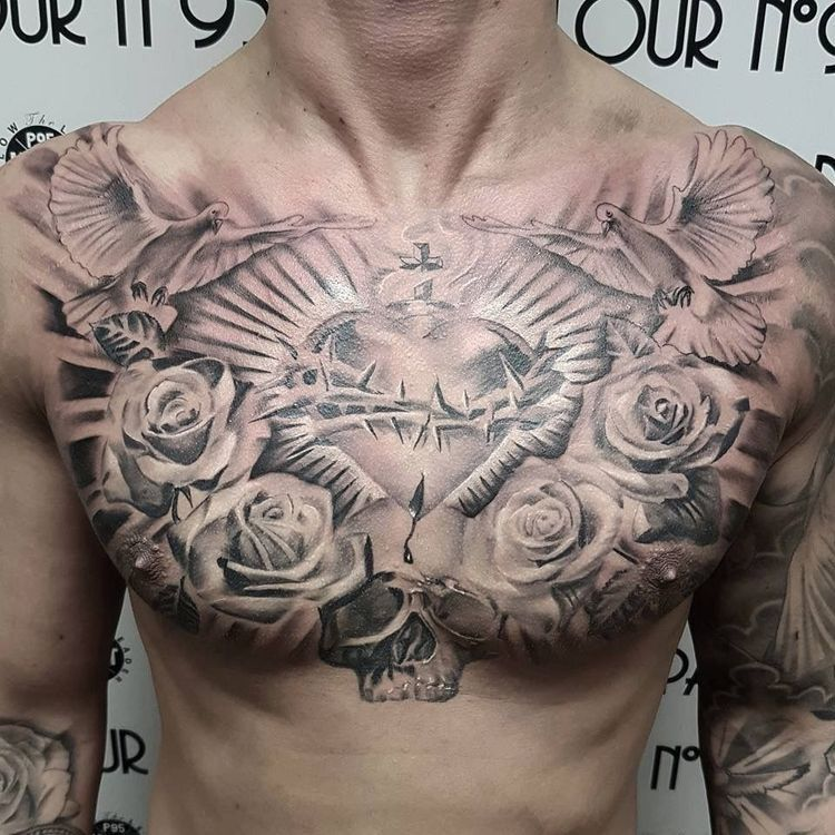 38++ Awesome Chest tattoo pain female image HD