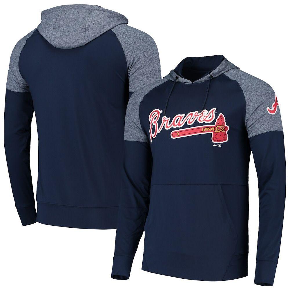 Men S Fanatics Branded Navy Atlanta Braves Made To Move Raglan Pullover Hoodie Size 4xl Blue In 2020 Pullover Atlanta Braves Hoodies