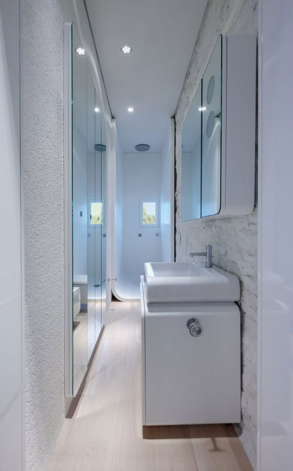 63 Contemporary Bathroom Ideas For A Soothing Experience Small Narrow Bathroom Compact Bathroom Design Small Bathroom Layout