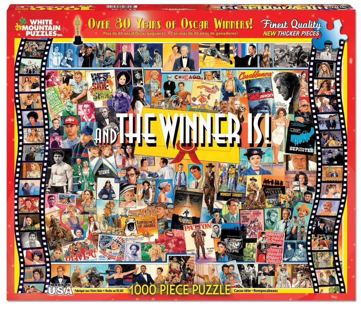 1000 Pieces And The Winner Is Over 80 Years Of Oscar Winners Puzzle By White Mountain Puzzles Inc No 9 Puzzles Jigsaw Puzzles Free Jigsaw Puzzles