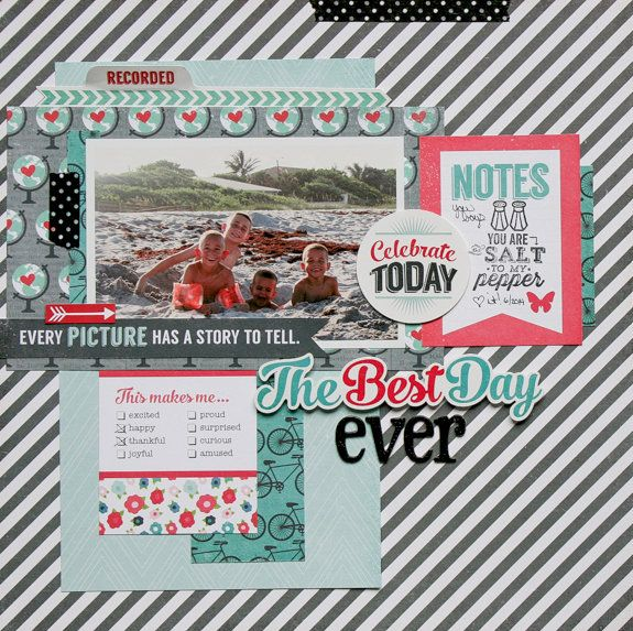 Best Day Ever Echo Park We Are Family Scrapbook Ideas