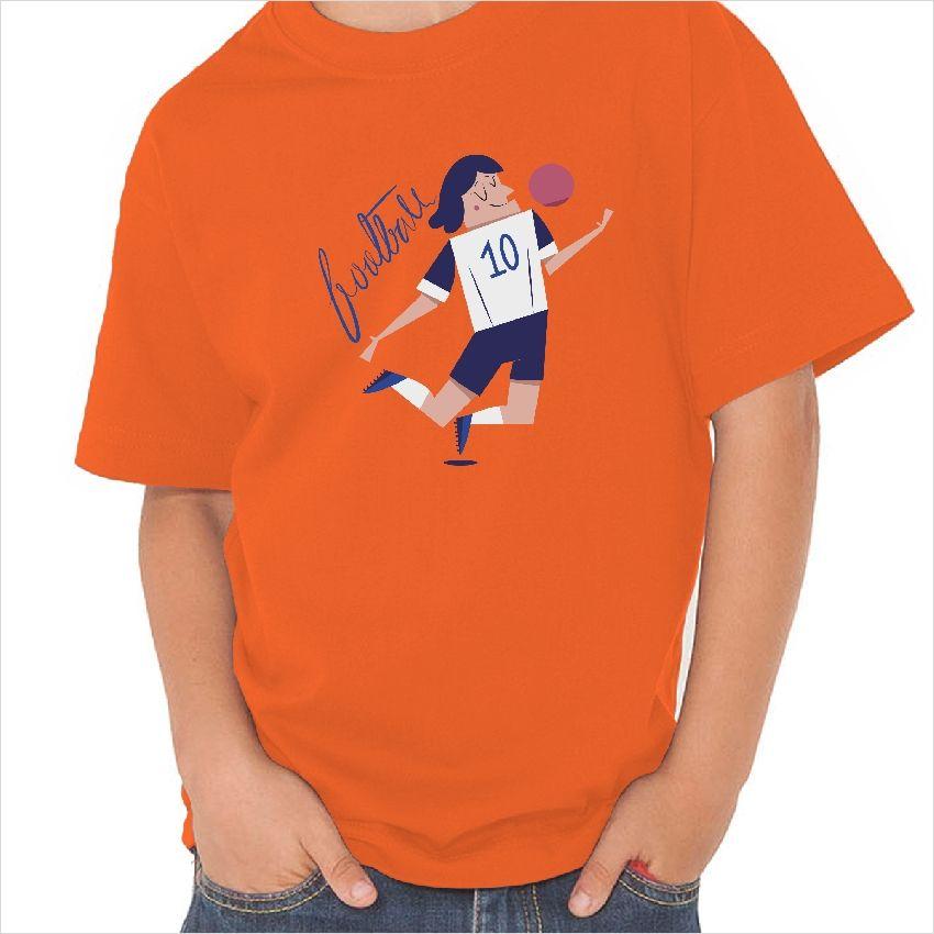 Camiseta infantil dibujo futbolista número diez fe434f039eb30
