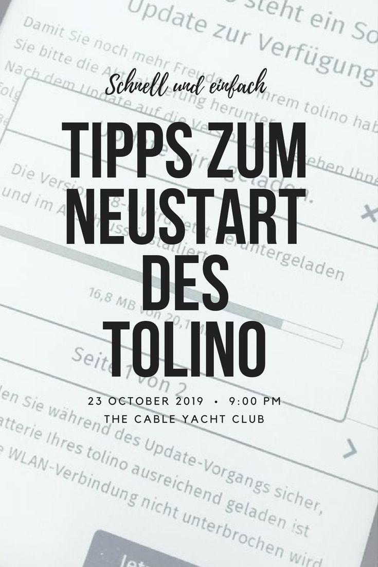 Tolino Ereader Hangt Tipps Zum Neustart Pinterest Tolino