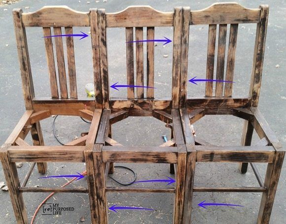 Easiest Chair Bench EVER
