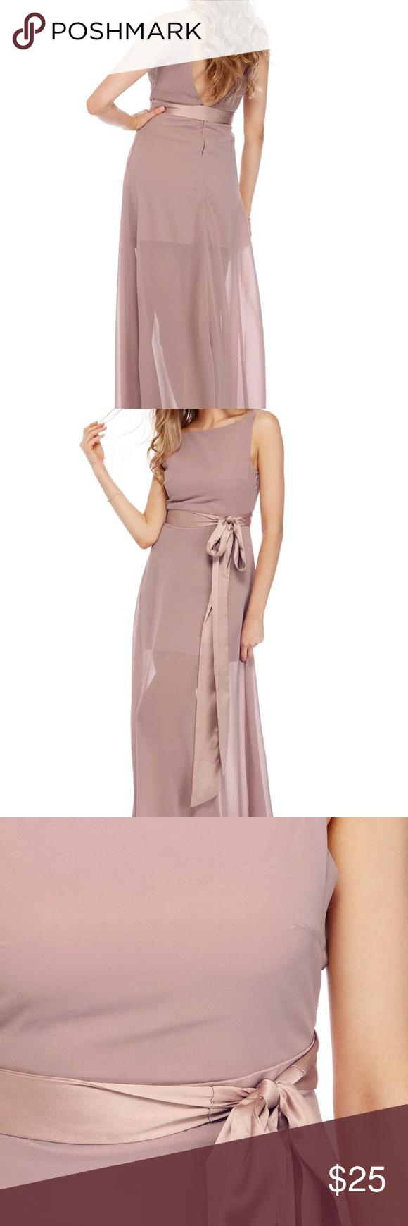 Windsor Mauve Blush Pink Maxi Dress Windsor Mauve Chiffon Maxi Dress With Satin Belt Worn Once In June 2017 Size Smal Blush Pink Maxi Dress Maxi Dress Dresses [ 1740 x 580 Pixel ]
