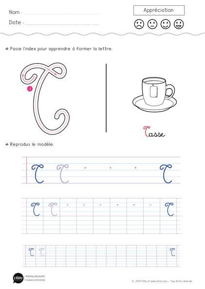 un contenu captivant sur apprendre  u00e0  u00e9crire la lettre t majuscule cursive