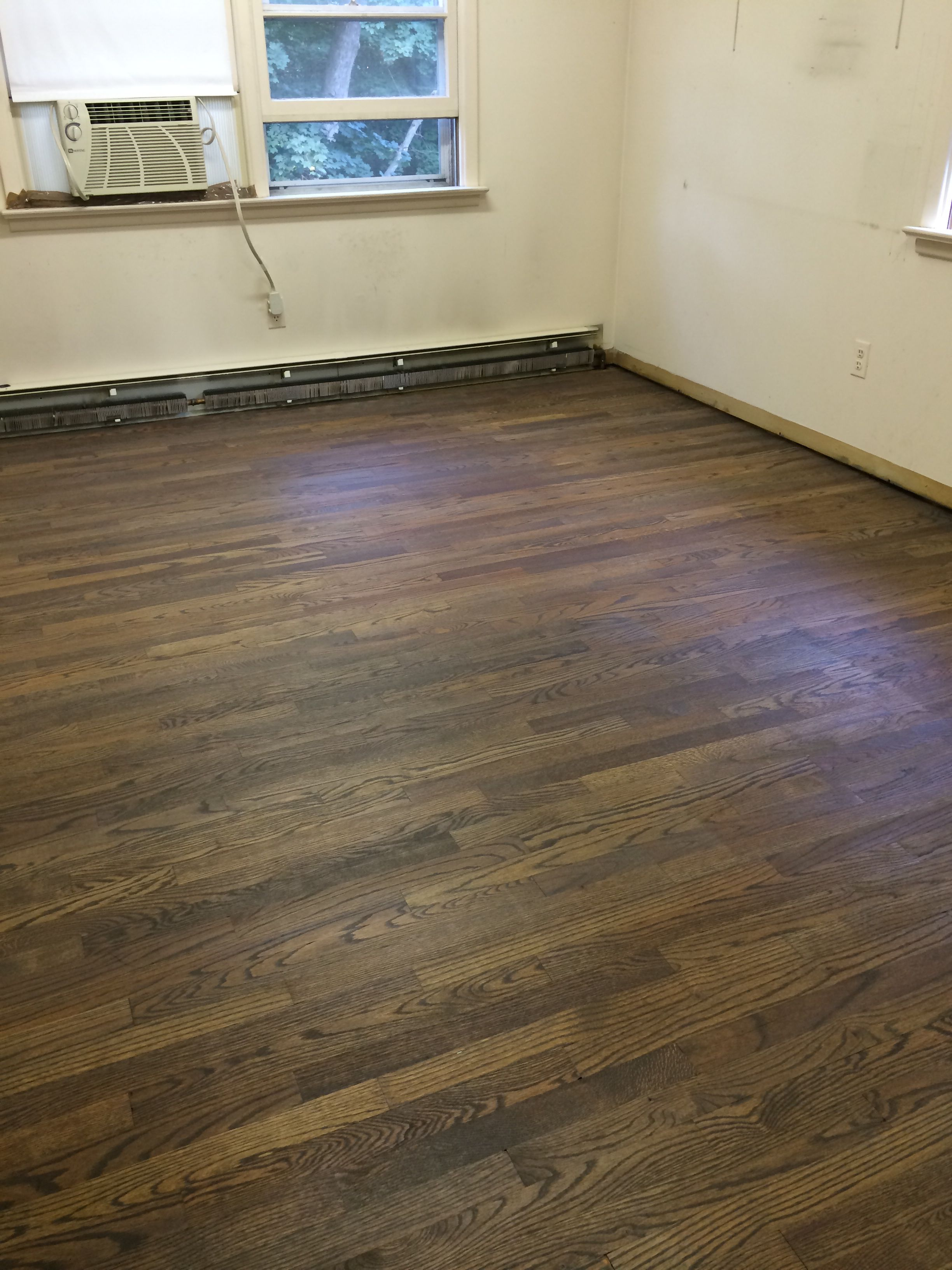 Relatively Floors are done! One coat of Minwax Provincial n one coat of  LU92