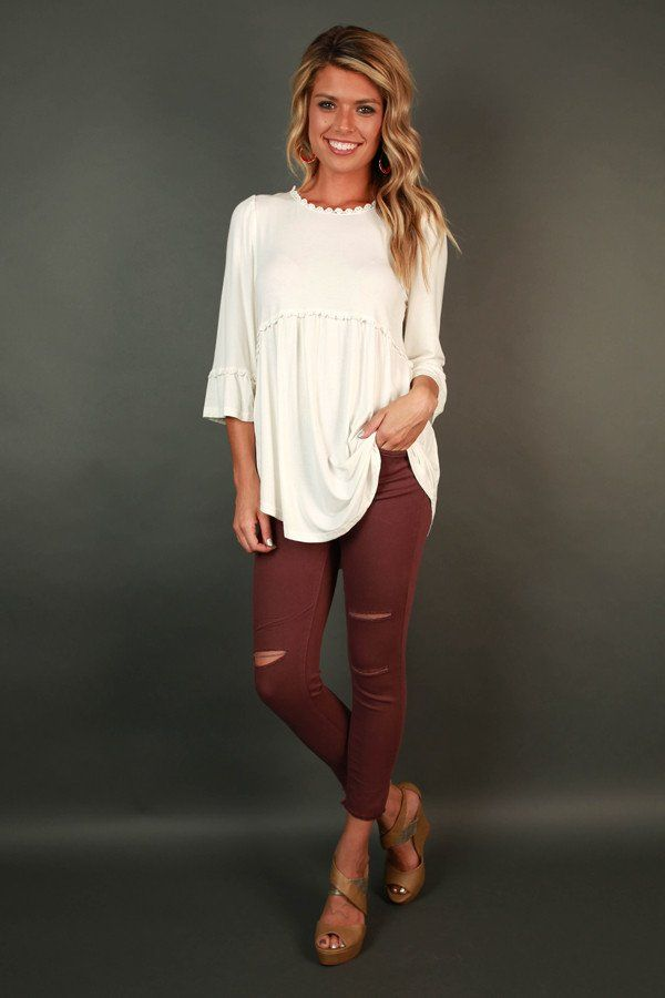8c6977610b2 Burst Of Energy Babydoll Top in White | Fashion Clothes in 2019 ...