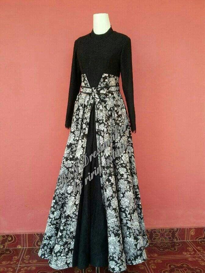 Model Baju Kombinasi Batik