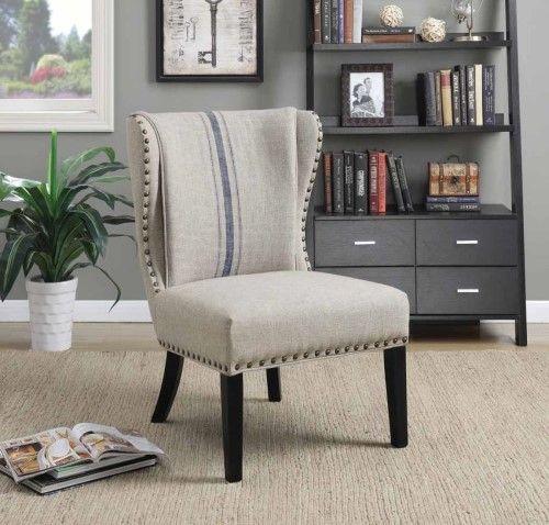 Coaster Fine Furniture Accent Chair 902496, White In 2019