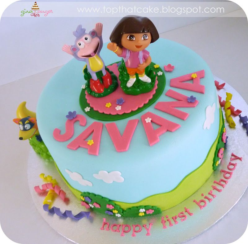 dora birthday cakes for girls Dora the Explorer First Birthday