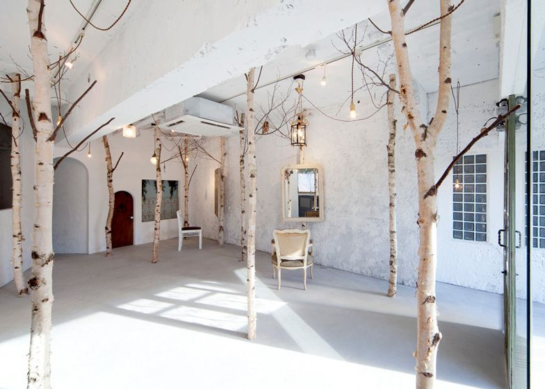 Lovely Onico Hair And Nail Beauty Salon With Indoor Trees By Ryo Isobe