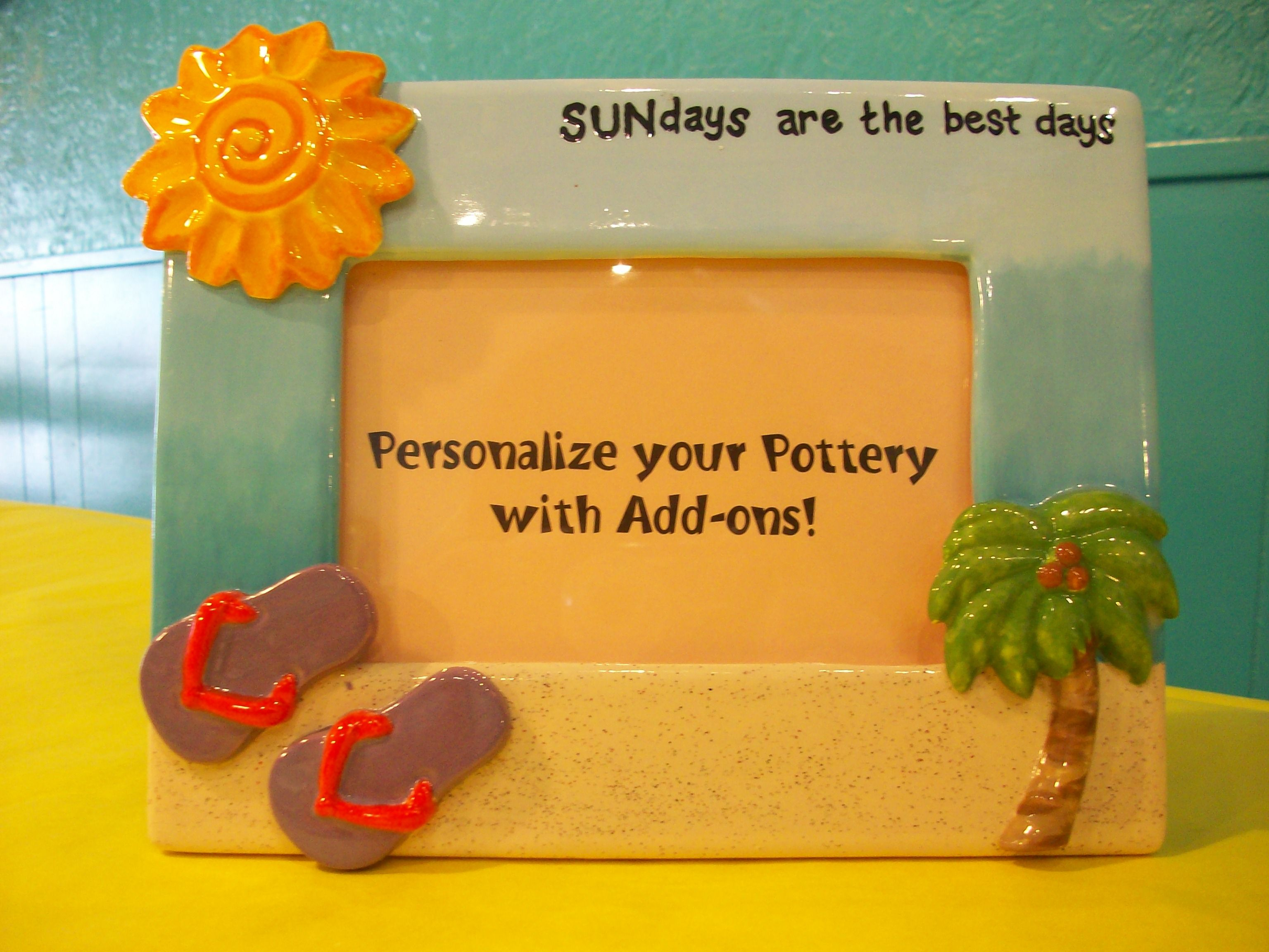 Beach Picture Frame Paint Your Own Pottery Kiln Creations