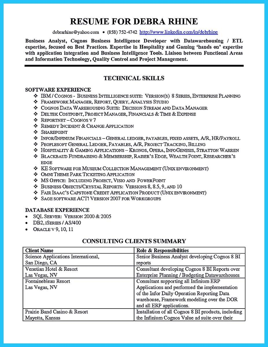 Cool Create Your Astonishing Business Analyst Resume And Gain The Position Modern