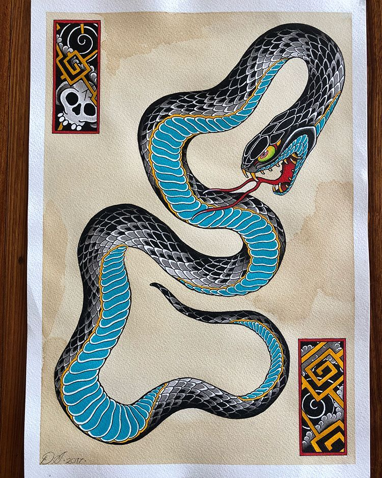 Tradition Tattoo Brisbane Japanese Snake Tattoo Snake Tattoo Design Japanese Tattoo Symbols