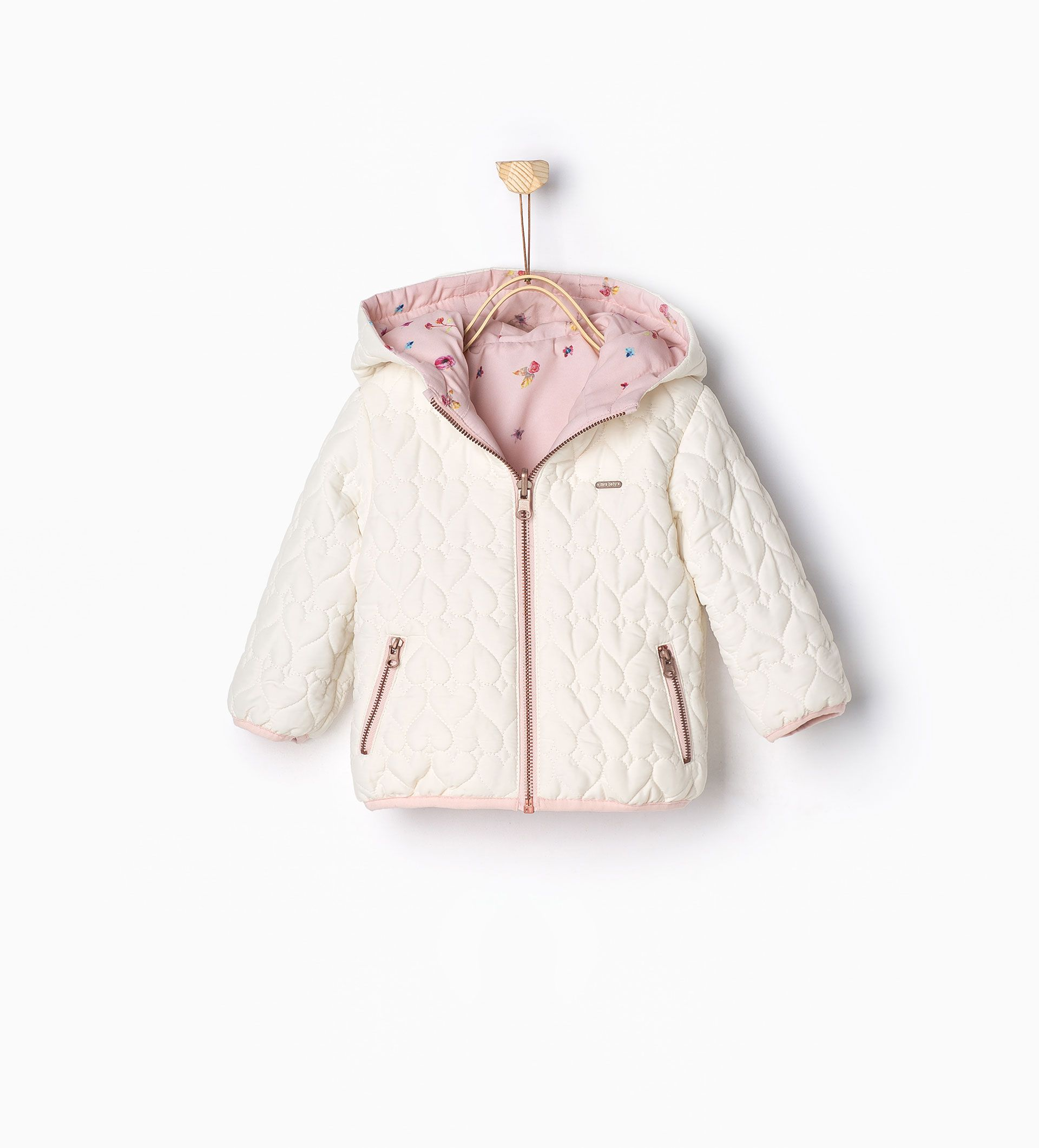 Reversible padded jacket - JACKETS - BABY GIRL | 3 months ...