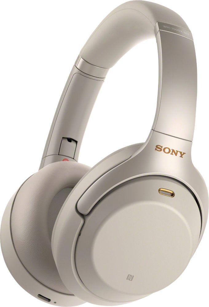 f18fe9f2e7e Sony - WH-1000XM3 Wireless Noise Canceling Over-the-Ear Headphones - Silver