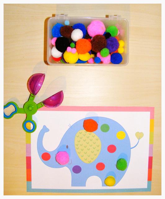 Grumpy Dumpling: Pompom Mats for Color Recognition - GIVEAWAY :)