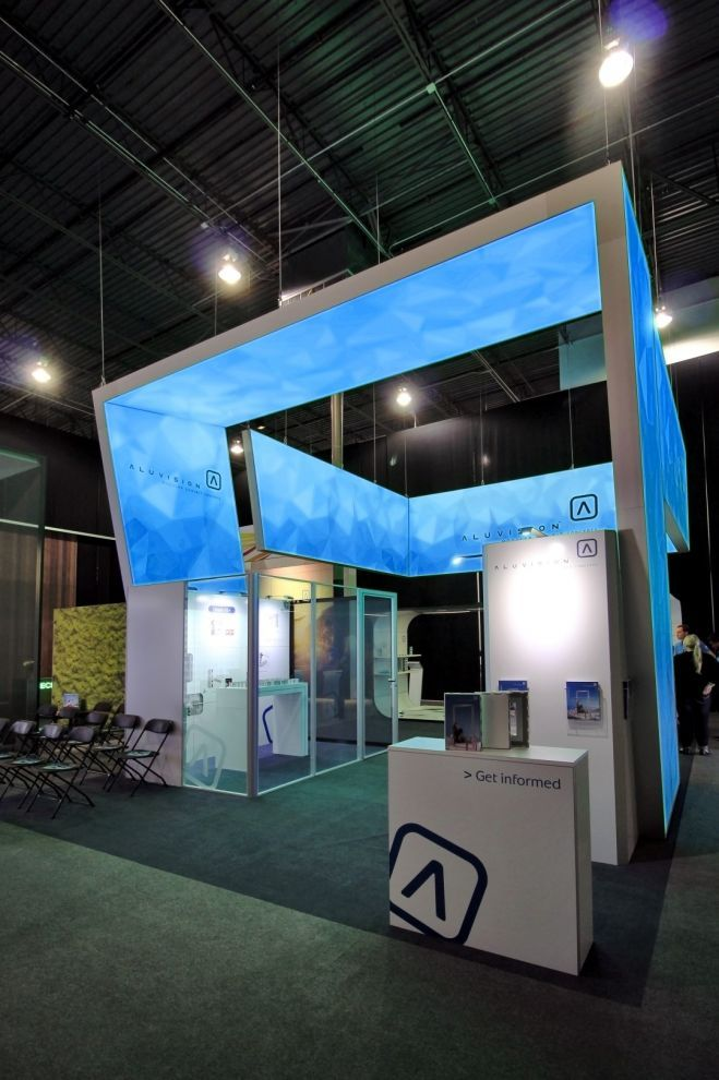 3d Exhibition Booth Design : Aluvision hanging signs d structures with tension fabric or
