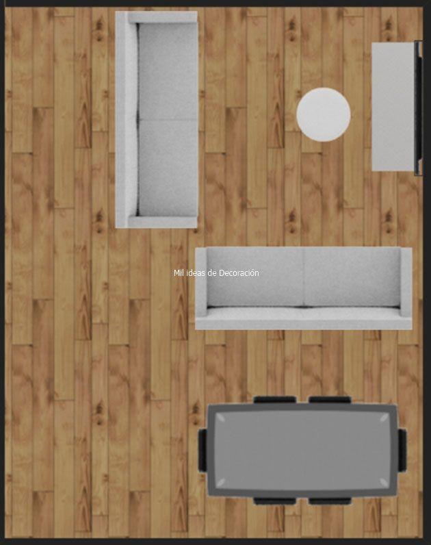 20 formas de distribuir un salón comedor rectangular   Salon ...