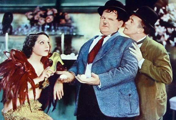 Lupe Velez,Laurel and Hardy,film 'hollywood party' by slr1238