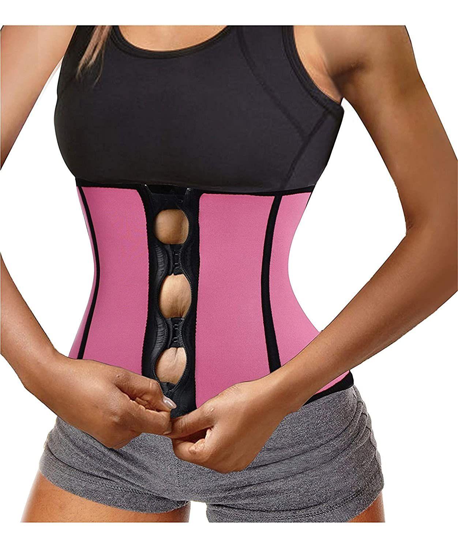 SHAPERIN Womens Waist Cincher Waist Trainer Trimmer Sauna Sweat Belt Neoprene Tummy Control Cincher Corset for Workout Fitness Shapewear