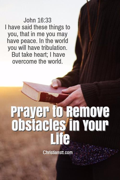 Prayer to Remove Obstacles in Your Life | Spiritual Warfare