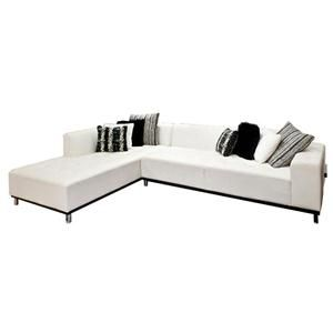 Nebraska Furniture Mart u2013 Kinwai USA 2-Piece Bright White Leather Sectional  sc 1 st  Pinterest : nebraska furniture mart sectional sofas - Sectionals, Sofas & Couches