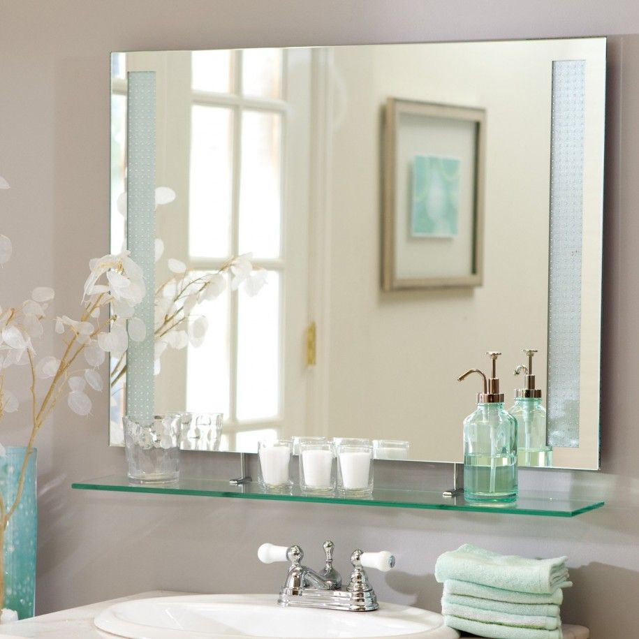 Hanging Framed Bathroom Mirrors how to hang a large framed bathroom mirrors - http://harvesthustle