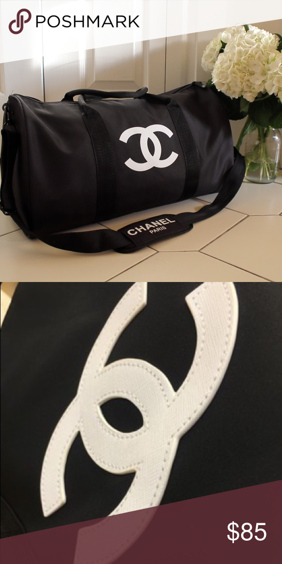 cc7d486a5869 Authentic Chanel Vip Gift Gym Duffle Bag Authentic Chanel Vip Gift Gym  Duffle Bag CHANEL VIP