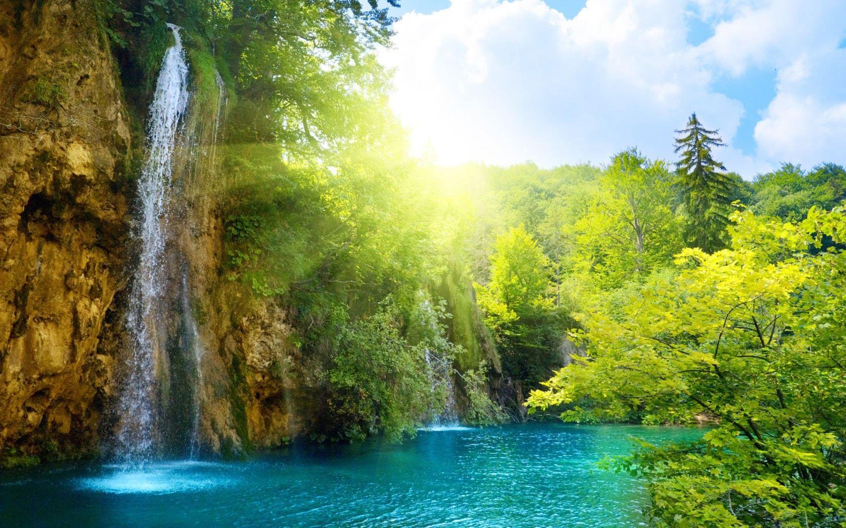 Gorgeous Waterfall Wallpaper Beautiful Nature Hd Nature Wallpapers