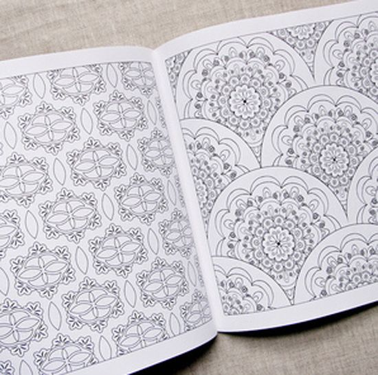 i used to spend hours colouring books like this in - Pattern Colouring Books