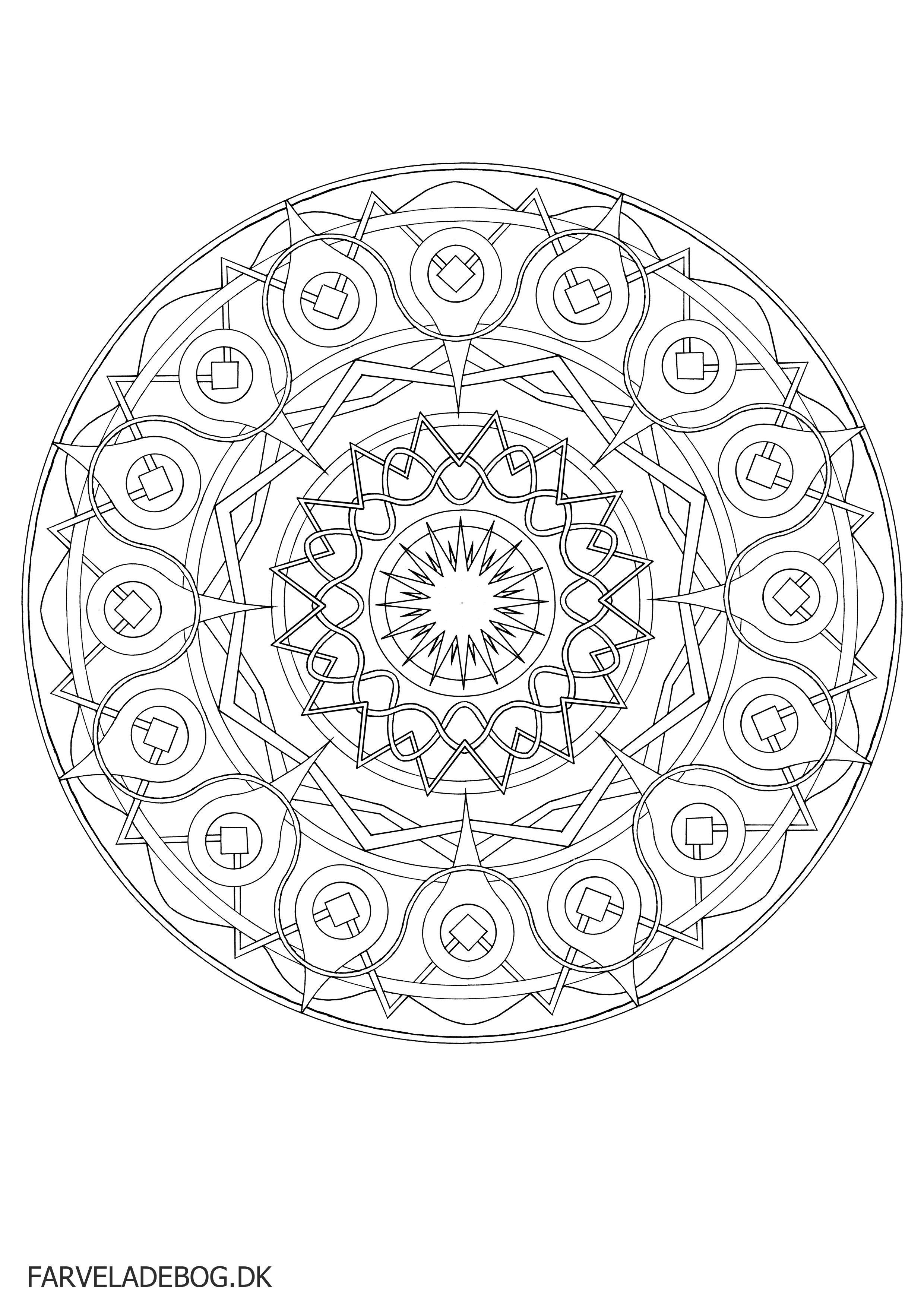 Mandala Tegninger Til Print Google Sogning Mandala Coloring Pages Coloring Pages Coloring Pictures