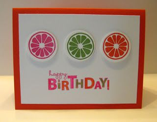 Cute birthday card, stamps from tart and tangy stampin up collection.