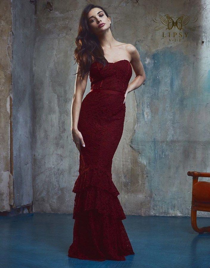 Vestiti Eleganti Vip.Lipsy Vip Lace Fishtail Bandeau Maxi Dress Establish Yourself As