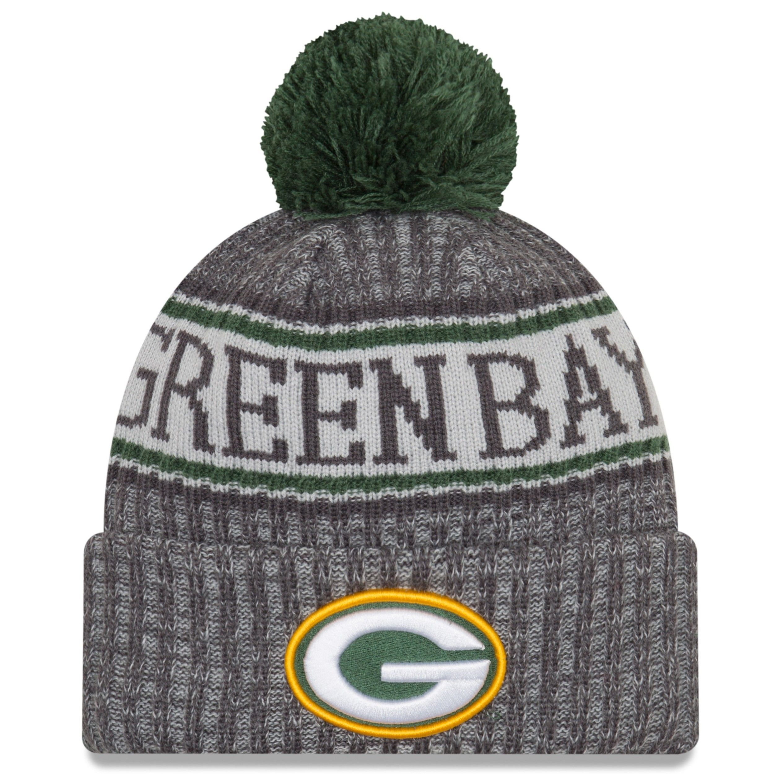 5d88ef74d Packers 2018 Sideline Graphite Sport Knit Hat | Green Bay Packers ...