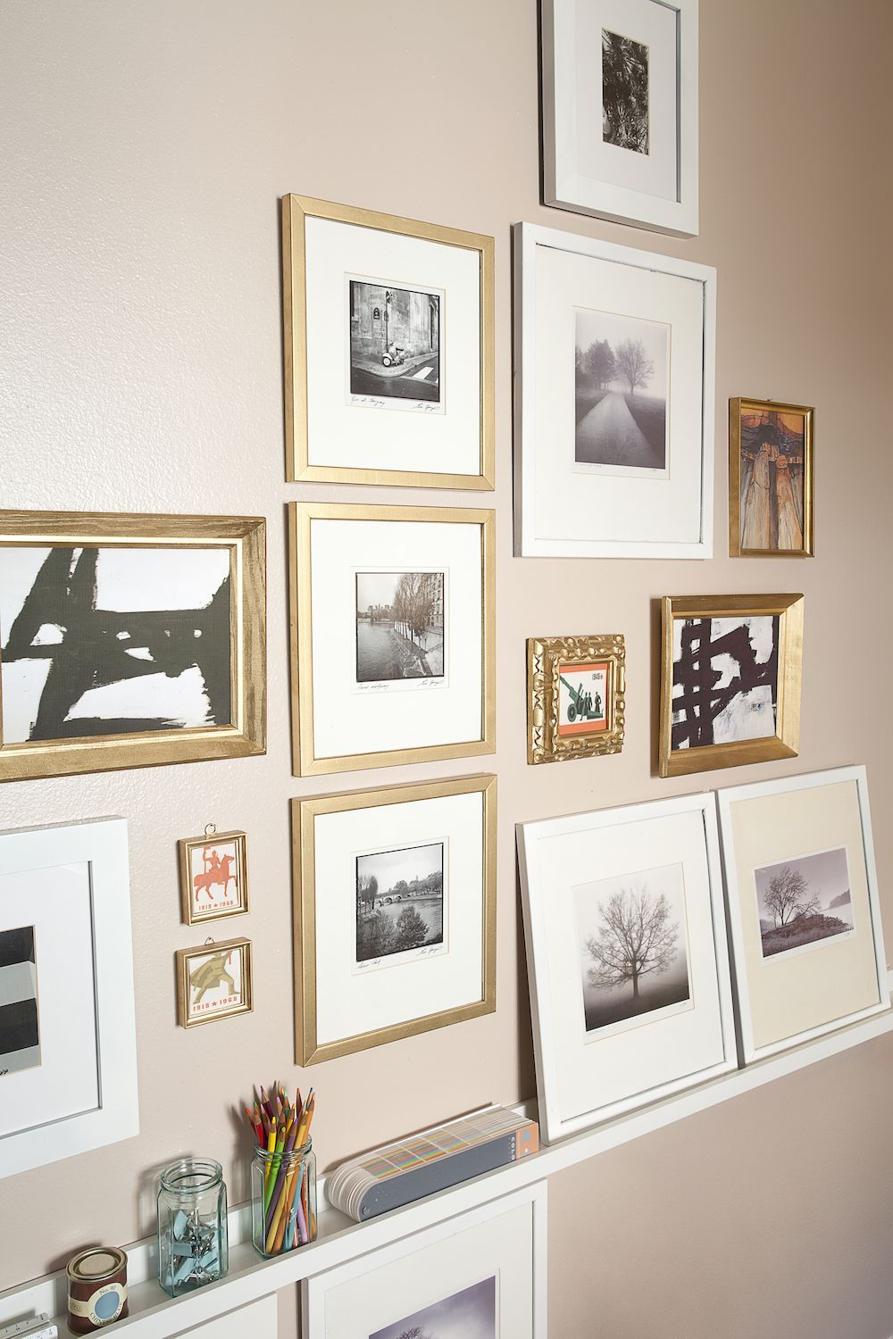 Gallery Wall Inspo With A Mix Of Personal Photographs Artwork Decor Modern Home Offices Eclectic Home
