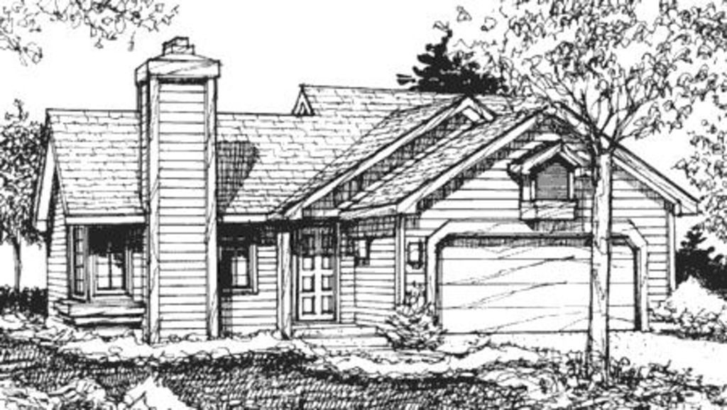 Ranch Style House Plan 2 Beds 1 Baths 1020 Sq Ft Plan