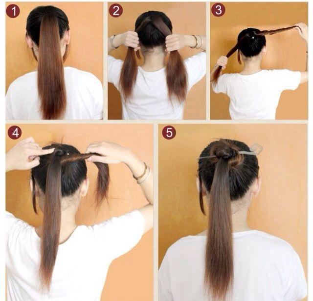 Hair Stick Ponytail Hair Tutorial Ponytail Hairstyles Hair Styles