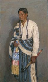 Artwork by Joseph Henry Sharp, Jerry (Elk Foot), Made of oil on canvas kp
