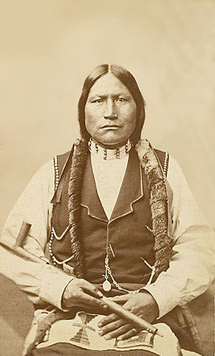 An old photograph of Black Coal - Northern Arapaho Head Chief 1877