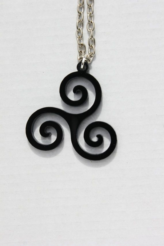 I am the Alpha.    The pendant is 1.25 wide and 1.5 high made from black, laser cut acrylic with an 18 nickel free, silver plated chain.