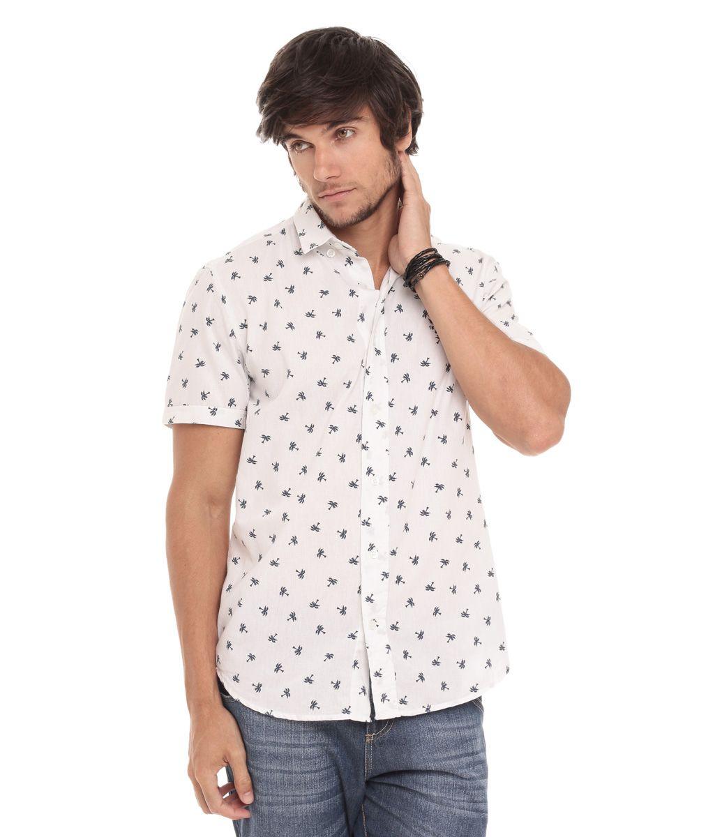 1ece7946d Camisa Masculina com Estampa de Coqueiros - Lojas Renner | Camisas ...